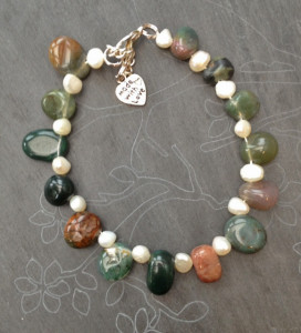 jasper and seed pearl bracelet